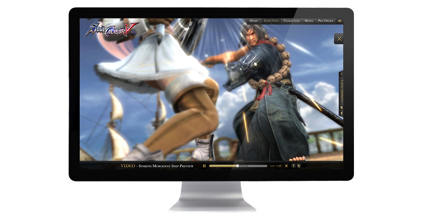 SOULCALIBUR Hub Website